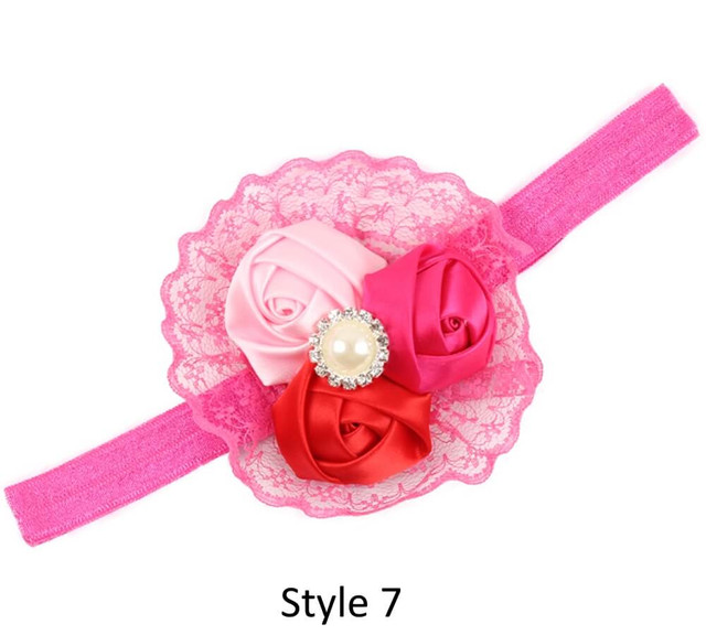 Baby Headband with 3 Rose - Style 7