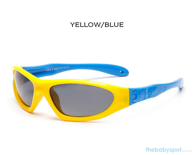 Kids Bendable Outdoor Sport Sunglasses  - Yellow/Blue