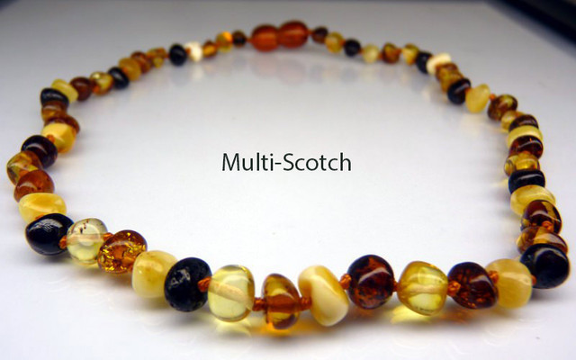 Amber Teething Necklace - Multi-Scotch