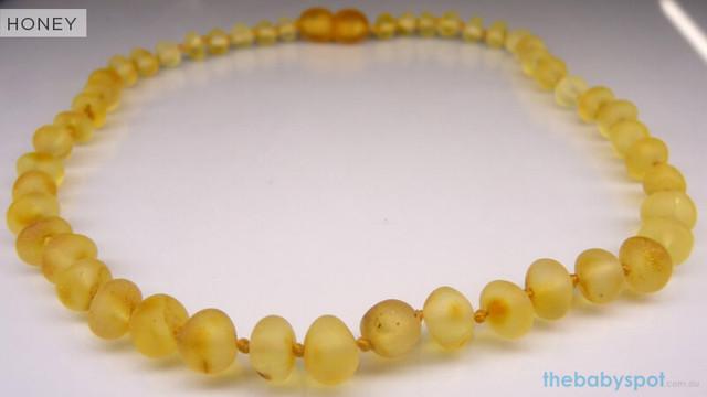Raw Amber Teething Necklaces  - HONEY