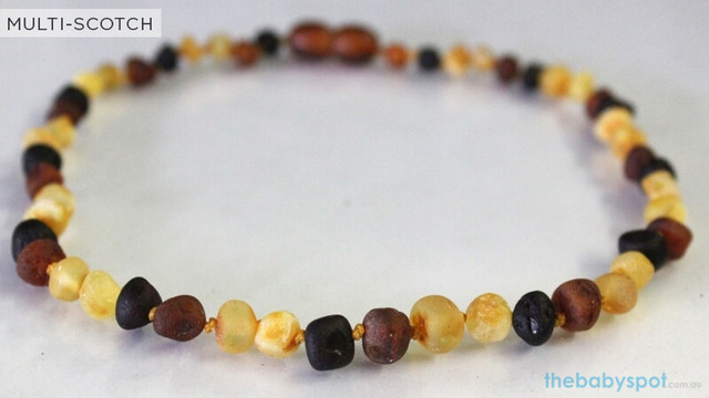 Raw Amber Teething Necklaces  - MULTI-SCOTCH