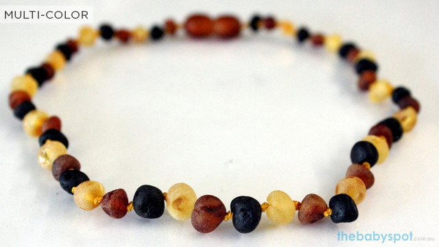 Raw Amber Teething Necklaces  - MULTI-COLOR