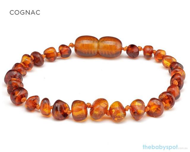 Amber Teething Bracelets - COGNAC