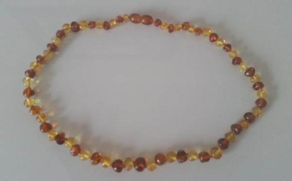 Adult Amber Necklace -Bi Color