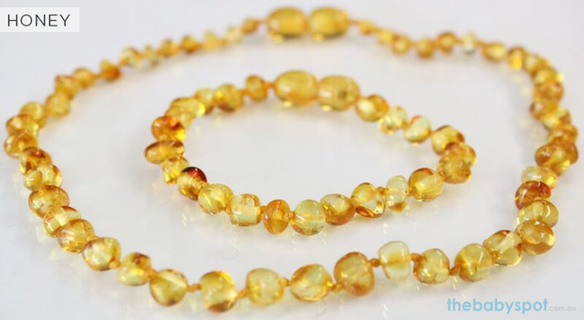 Lemon Amber Necklaces for Mum and Baby - HONEY