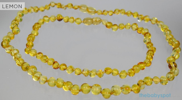 Lemon Amber Necklaces for Mum and Baby - LEMON