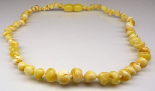 Amber Teething Necklace - Natural White