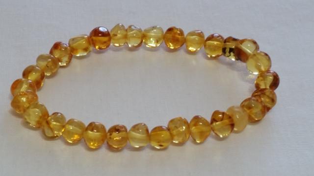 Adult Amber Bracelet - Lemon