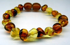 Amber Teething Bracelets - Bi-colour