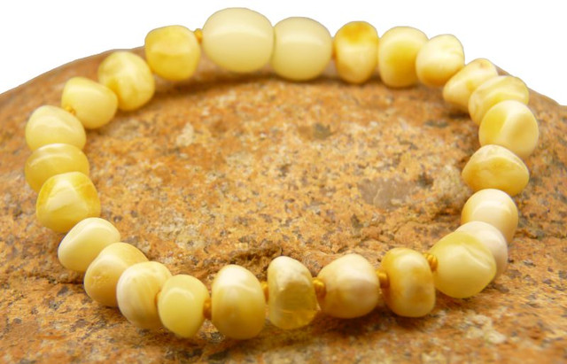 Amber Teething Bracelets - White