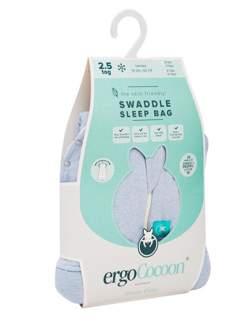 ErgoCocoon Zip Up Baby Swaddle/Sleeping Bag 2.5 TOG