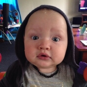 Baby Amber Selfie