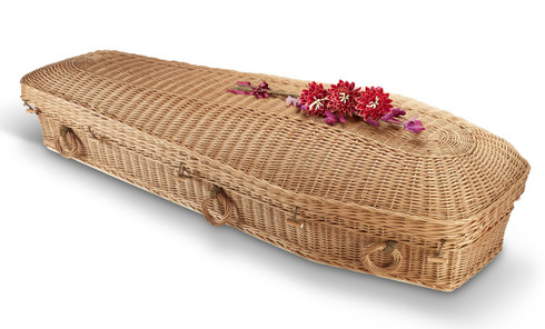 Brown Willow Eco Pod Coffin