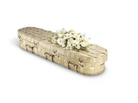 Oval Bamboo Lattice Coffin