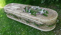 Oval Water Hyacinth Coffin