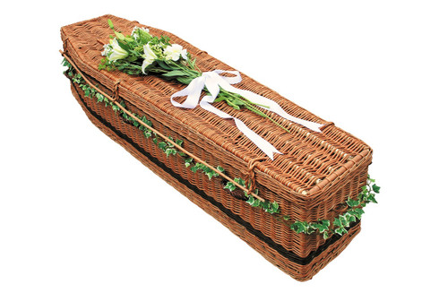 Traditional Brown Willow Coffin