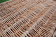 Brown willow coffin weave detail