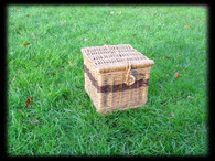 Brown Willow Square Ashes Casket