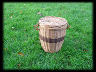 Brown Willow Round Ashes Urn