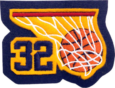 Basketball Swoosh w/ Jersey Number