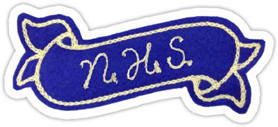 National Honor Society Shield Or Ribbon Phoenix Lettering