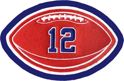 Felt Football with Jersey Number