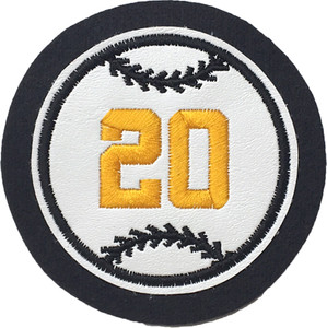 Vinyl Baseball with Jersey Number
