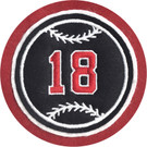 Felt Baseball with Jersey Number