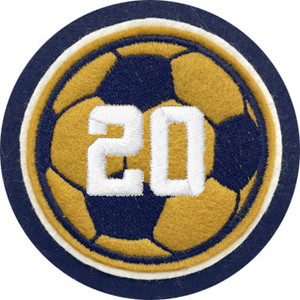 Felt Soccer Ball with Jersey Number