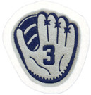 Glove with Jersey Number