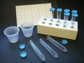 Uri-Pak™ Kit with 12mL tube, blue caps, cups, labels with rack