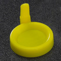 Yellow Snap Cap with Sanitary Grip for Flared Top Urine Tubes
