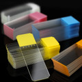 Globe Scientific Diamond White Glass Microscope Slides - Color Coded