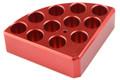 Red Quarter Reaction Block (11 holes 4 mL reaction vessel 15.2mm dia x 20mm depth)