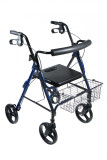 "DLite Rollator Walker with 8"" Wheels and Loop Brakes-696"