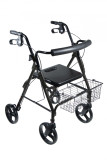 "DLite Rollator Walker with 8"" Wheels and Loop Brakes-697"