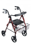 "DLite Rollator Walker with 8"" Wheels and Loop Brakes-698"
