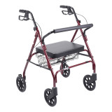 Heavy Duty Bariatric Rollator Walker with Large Padded Seat-705