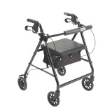Rollator with Fold Up and Removable Back Support and Padded Seat-714