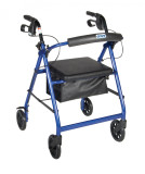 Rollator with Fold Up and Removable Back Support and Padded Seat-715