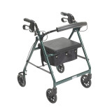 Rollator with Fold Up and Removable Back Support and Padded Seat-716