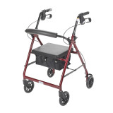 Rollator with Fold Up and Removable Back Support and Padded Seat-717