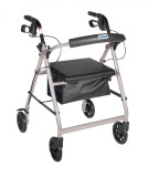 Rollator with Fold Up and Removable Back Support and Padded Seat-718