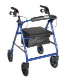 Rollator with Fold Up and Removable Back Support and Padded Seat-719