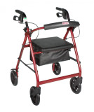 Rollator with Fold Up and Removable Back Support and Padded Seat-720