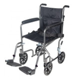 Lightweight Steel Transport Wheelchair with Swing away Footrests-736