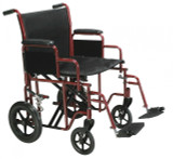 Bariatric Heavy Duty Transport Wheelchair with Swing away Footrest-743