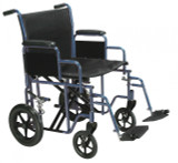 Bariatric Heavy Duty Transport Wheelchair with Swing away Footrest-744