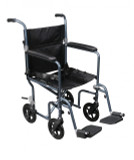 Flyweight Lightweight Transport Wheelchair with Removable Wheels-759