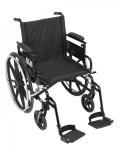 "Viper Plus GT Wheelchair with 16"" wide seat and Flip Back Adjustable Arms with Various Front Rigging-820"